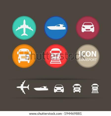 icon transport  - stock vector