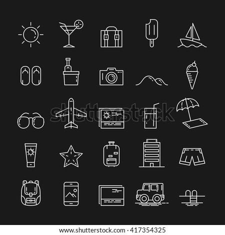 icon travel. icon summer. vector illustration - stock vector
