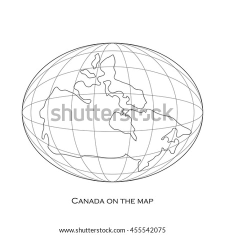 Icon vector map of Canada - stock vector