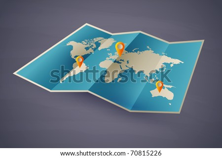 icon vector map of the world. eps10 with transparency - stock vector