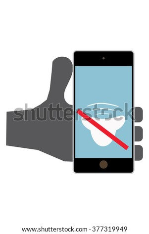 icon vector Please mute your phone  - stock vector