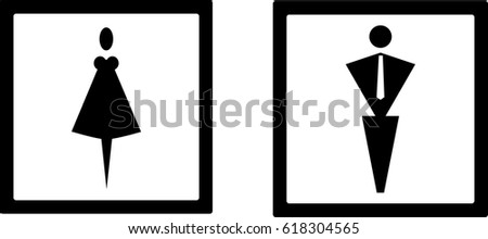 Bathroom Sign Male Vector funny public toilet concept icon symbol sign vector stock images