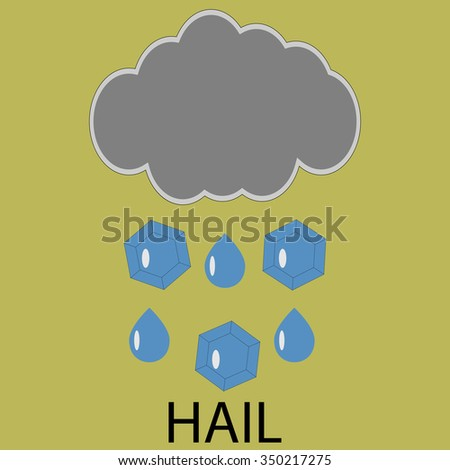 Icon weather hail. Cloud storm, forecast meteorology, cyclone and climate. Vector art design abstract unusual fashion illustration - stock vector