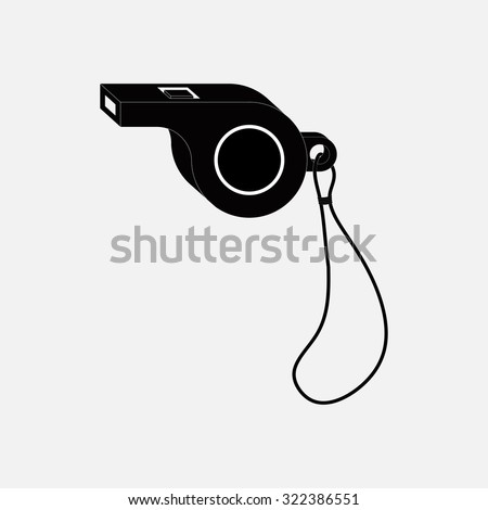 icon whistle, sporting events, a judge, coach, fully editable vector image - stock vector