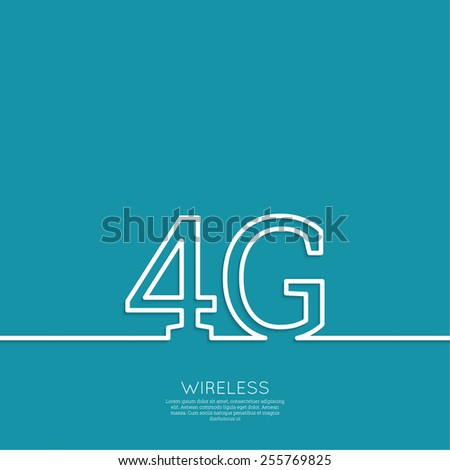 Icon Wireless 4g. New technology, high speed internet access. Outline. minimal. - stock vector