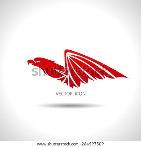 Icon with an eagle on a white background. - stock vector