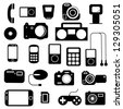 Icon  with  electronic gadgets. Vector illustration. - stock vector