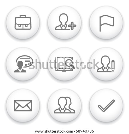 Icon with white button 1 - stock vector
