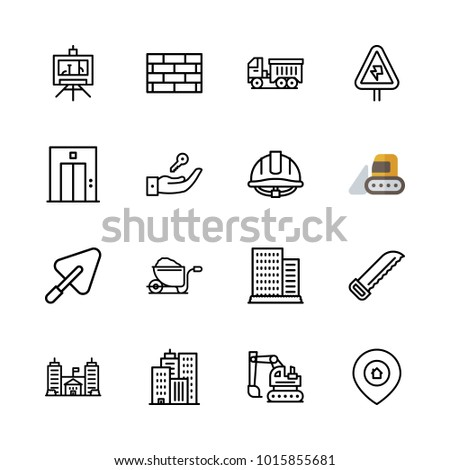 Icons architecture vector building blueprint lift stock vector icons architecture vector building blueprint and lift malvernweather Gallery