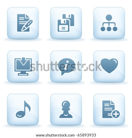 Icons blue series 10 - stock vector