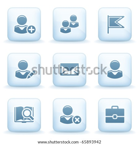 Icons blue series 1 - stock vector