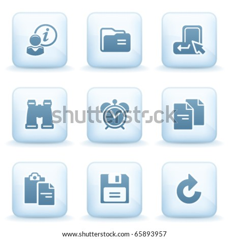 Icons blue series 3 - stock vector