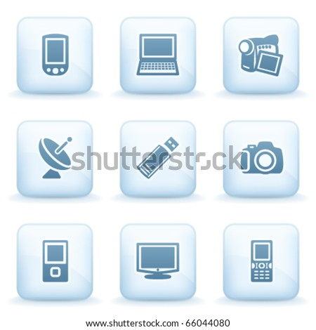 Icons blue series 16 - stock vector