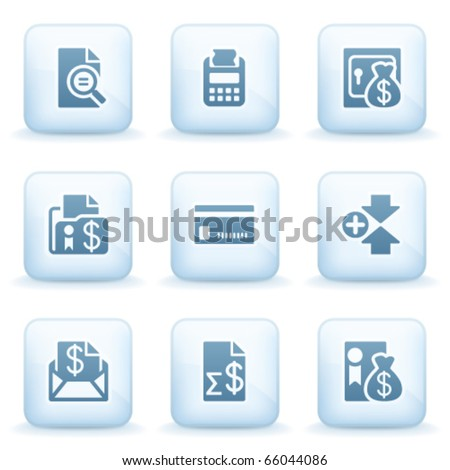 Icons blue series 14 - stock vector