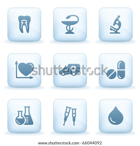 Icons blue series 12 - stock vector