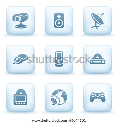 Icons blue series 21 - stock vector