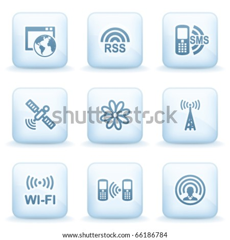 Icons blue series 30 - stock vector