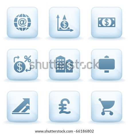 Icons blue series 23 - stock vector