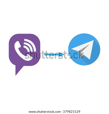 Icons call and e-mail transmission, vector - stock vector