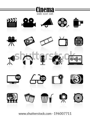 Icons cinema - stock vector