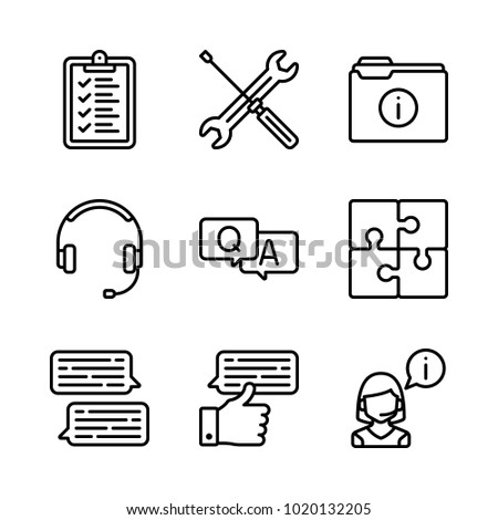 Puzzle vector stock vectors images vector art shutterstock icons customer service vector list puzzle and operator ccuart Image collections