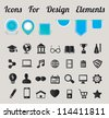 Icons For Design Elements - vector icons - stock vector
