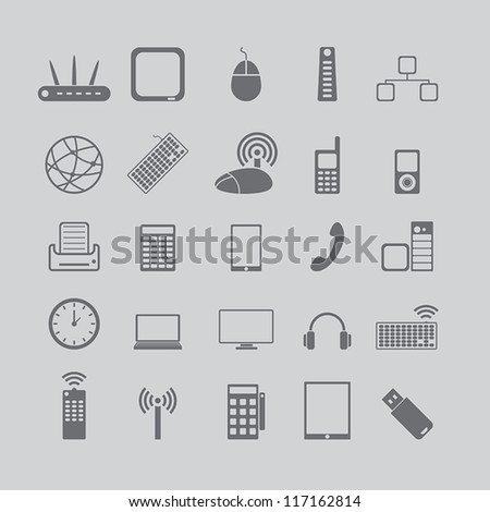 icons for media and cell phones