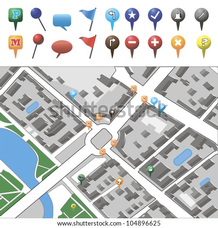icons for navigation - stock vector