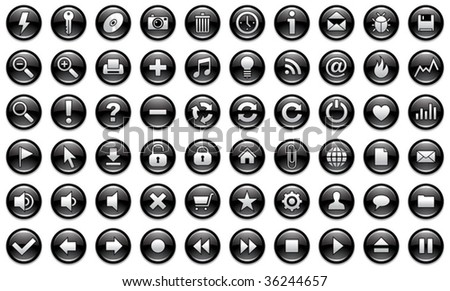 icons for web and applications - stock vector