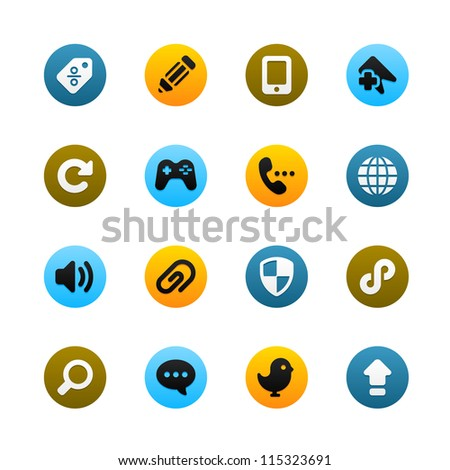 Icons For Web and Mobile - stock vector