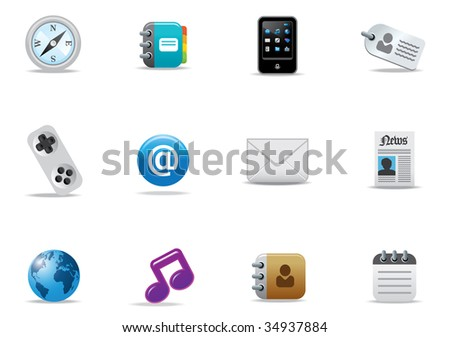 Icons for website or printed literature - editable vector illustrations - stock vector
