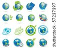 icons globe - stock photo