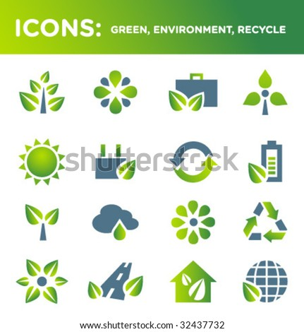 ICONS: green, environment, recycle (SET 2) - stock vector