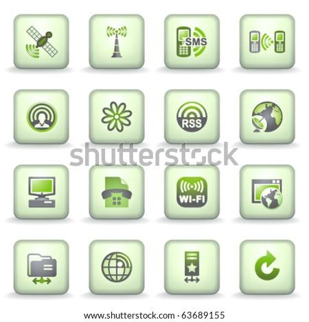 Icons green gray series 17 - stock vector