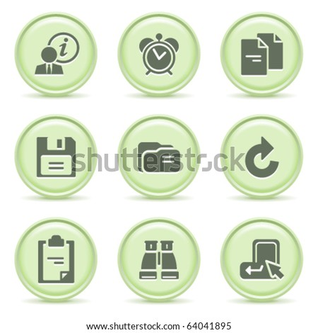 Icons green series 3 - stock vector