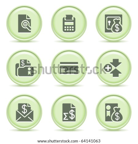 Icons green series 14 - stock vector