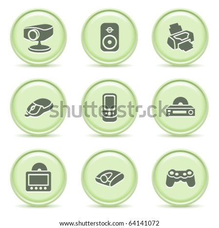 Icons green series 21 - stock vector