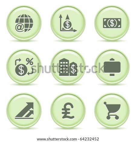 Icons green series 23 - stock vector
