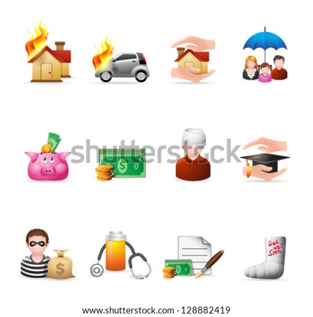 icons in colors - stock vector