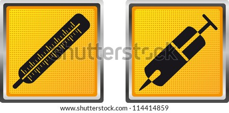 icons medicine for design vector illustration isolated on white background - stock vector