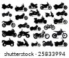 Icons motorbikes - stock vector