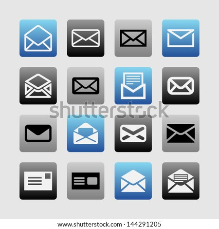 Icons of letter - stock vector