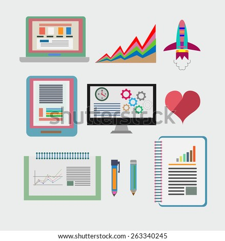 icons set for design - stock vector