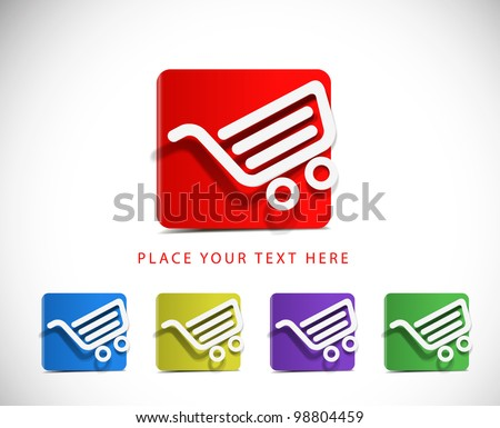 Icons set for web applications, sale icons, shopping icons web design. - stock vector