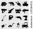 Icons set Industrial Tools.power tools vector. - stock vector