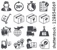 Icons set: Logistics - stock
