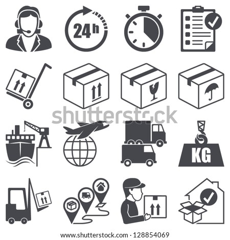 Icons set: Logistics - stock vector