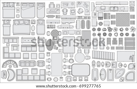 Overhead stock images royalty free images vectors for Floor plan furniture store