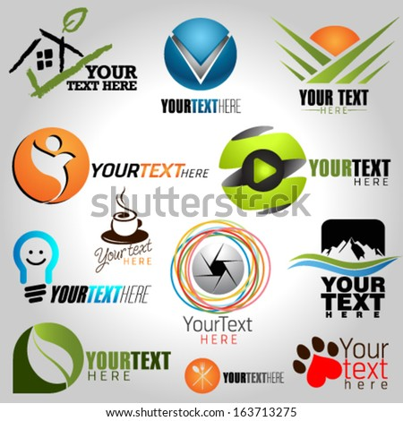 Icons Set of Modern Vector Elements. Graphic Design Editable For Your Design.   - stock vector