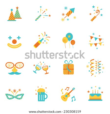 Icons Set : Party Objects - stock vector
